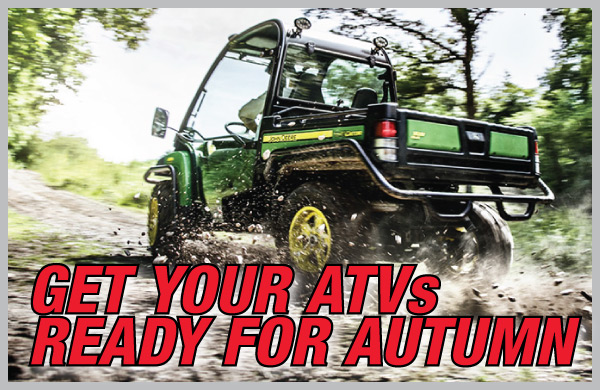 Get your ATVs ready for Autumn